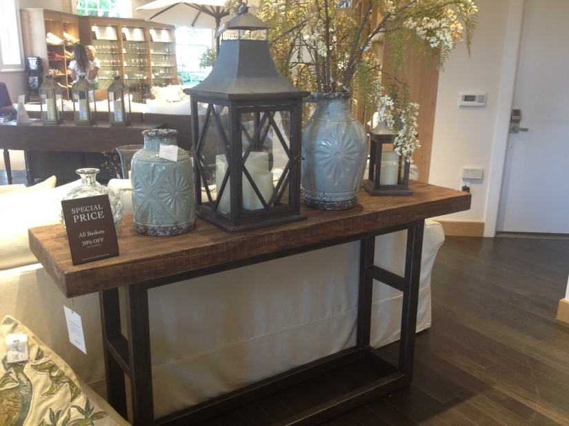 Pottery Barn- perfect entrance table to the great room