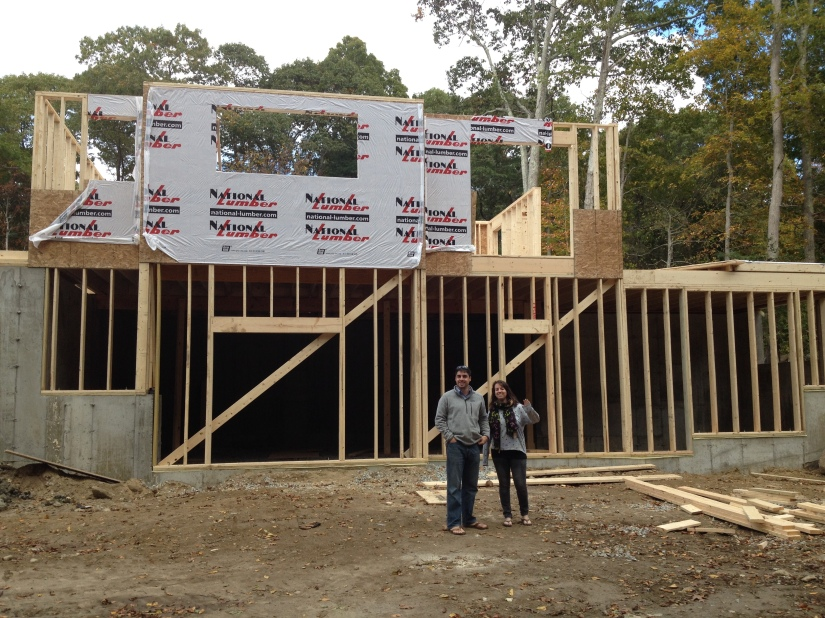 View of the back of the house- with Jarret & Lauryn
