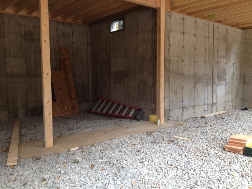 View inside the basement