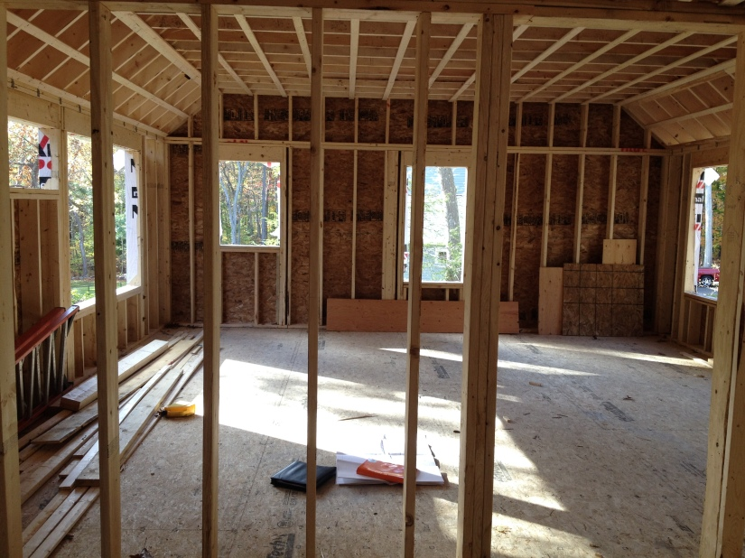 View into our master bedroom/ bath