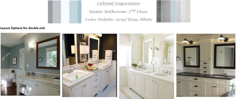 Master Bath - Cabinet layout & Color Palette