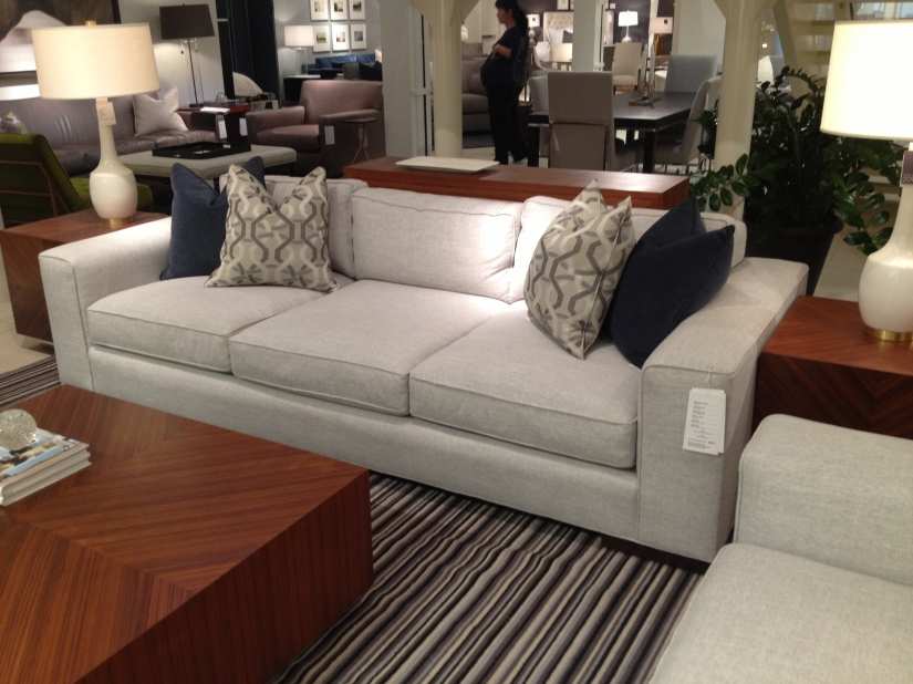 This couch could be great for the den- a light grey that can work back to any color