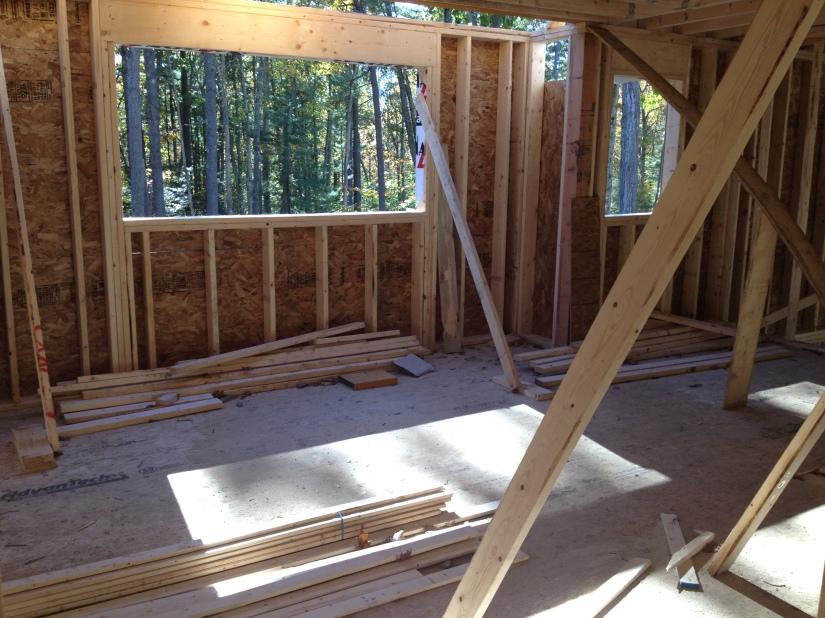 Kitchen window and half-bath window