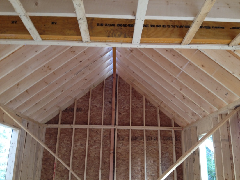 Vaulted ceiling- great room
