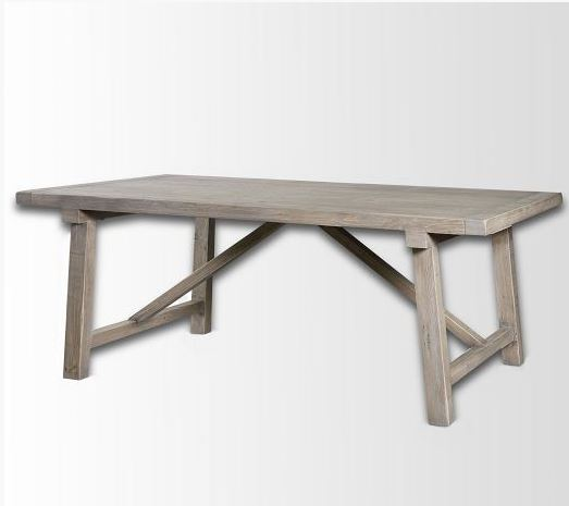 West Elm- Wooden Truss Dining Table