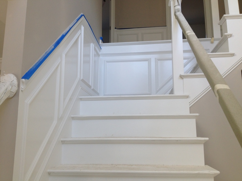 Wainscoting Front Hall and Stair 2