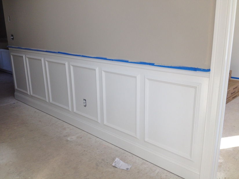Wainscoting Front Hall and Stair