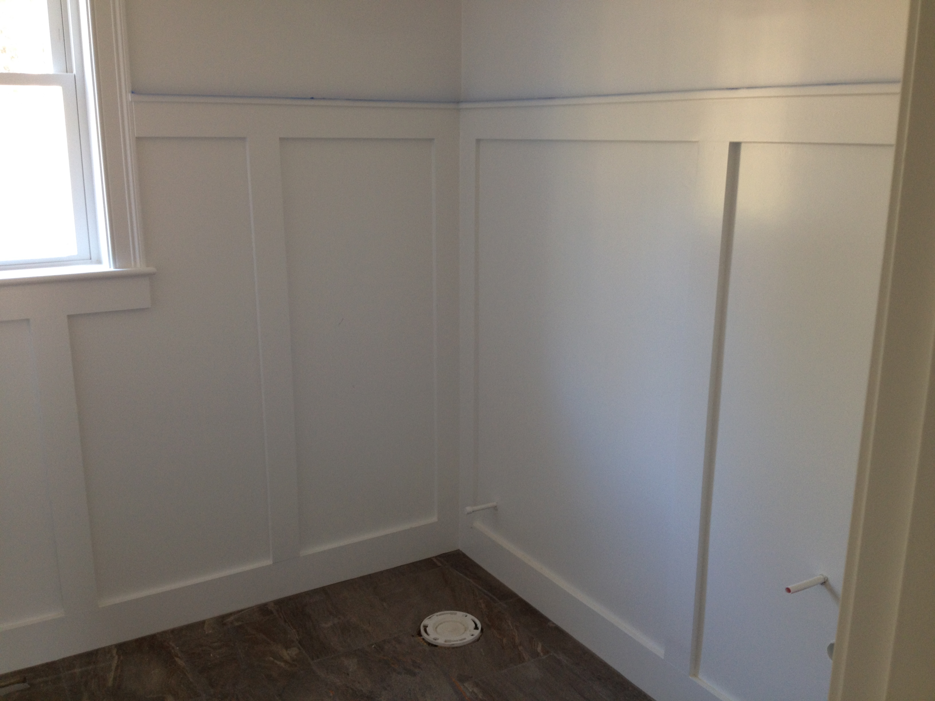 Small Bathroom Remodel Wainscoting small half bathroom design. half bathroom remodel idea with small