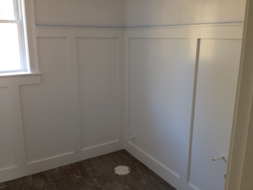 Wainscoting half bath