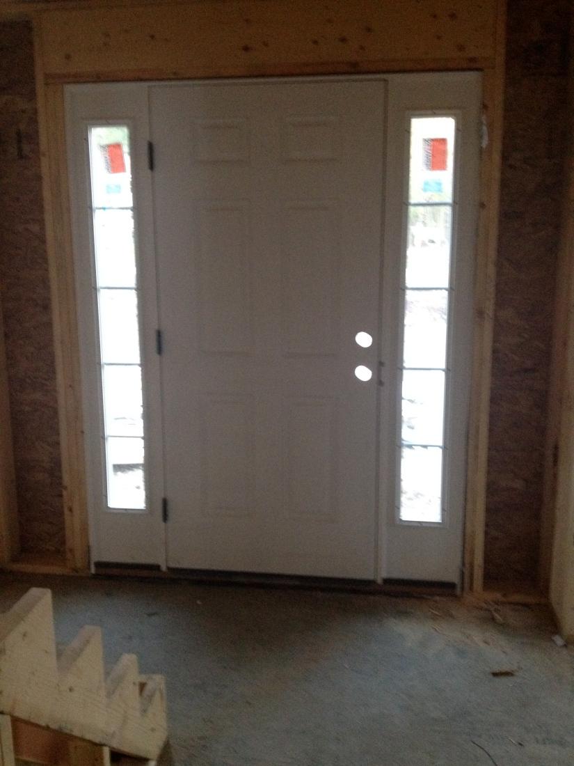 Inside view of the front door