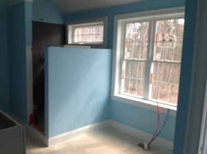 Master Bath- Benjamin Moore Morning Glory